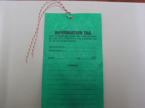 Data Tagging: Out Of Service-do Not Operate Tags